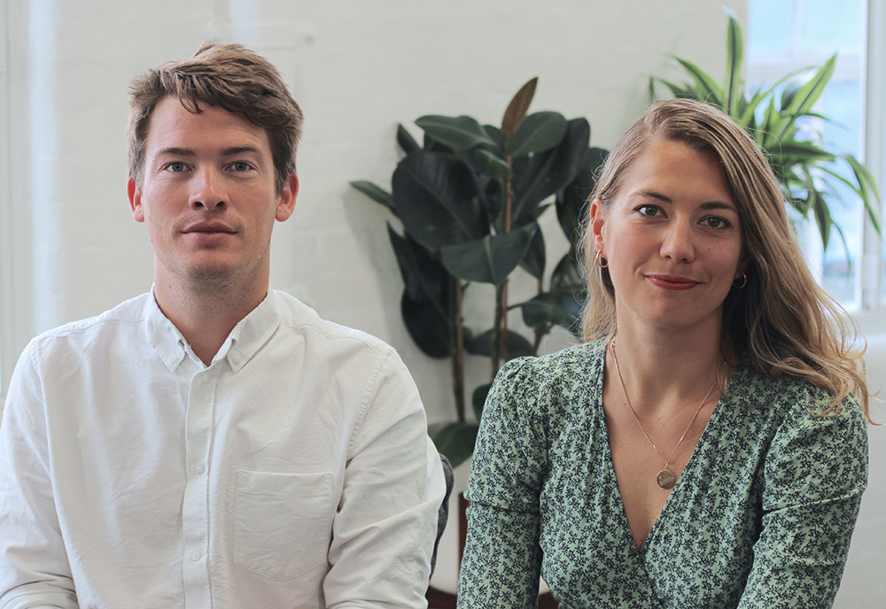 Gus Bartholomew and Flora Davidson, Co-founders of SupplyCompass
