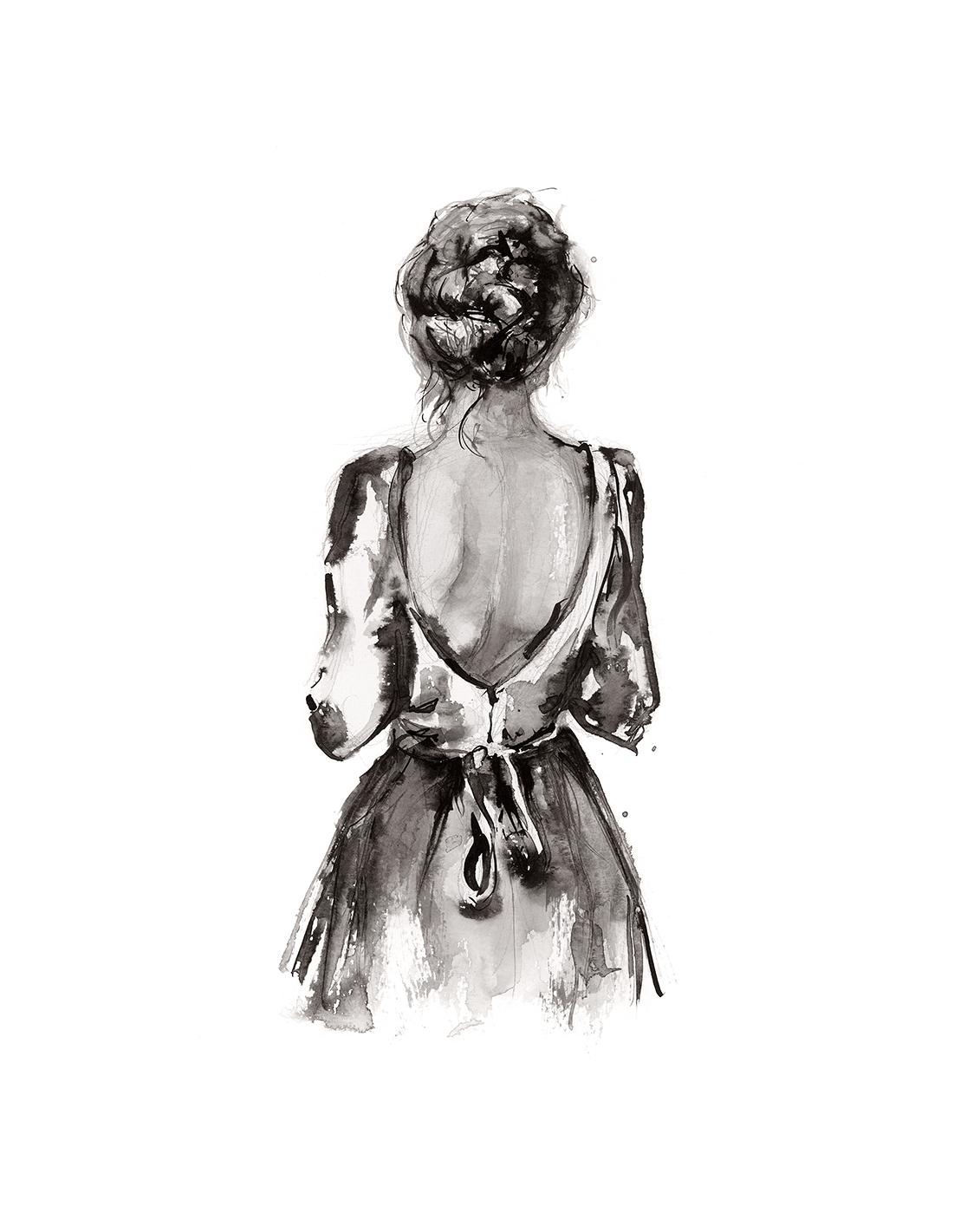 'Breath'.  Fine Art Print by Artist, Dana Trijbetz.  Original Ink Painting made as a Giclée Print on 100% Cotton Paper.  Image 2 of 4.jpg
