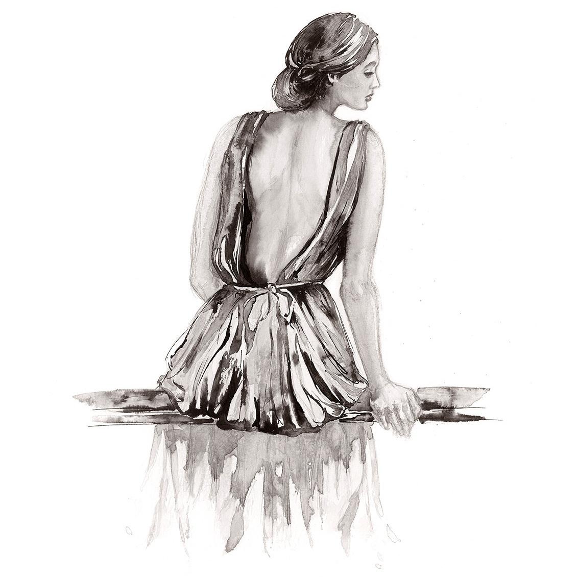 'Morning Light'.  Fine Art Print by Artist, Dana Trijbetz.  Original Ink Painting made as a Giclée Print on 100% Cotton Paper.  Image 2 of 4.jpg