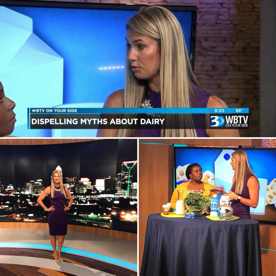 Thanks to WBTV News , Bounce TV , and The Dairy Alliance for having owner Jennifer Brunelli RD  to talk about bone health.
