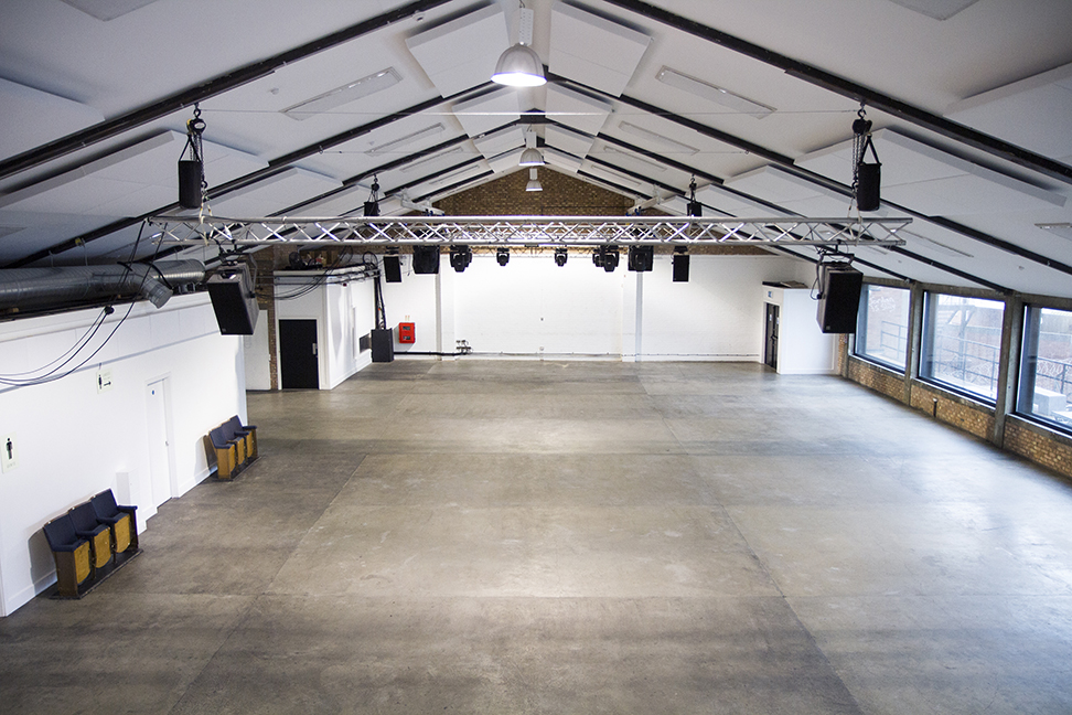 Large warehouse wedding venue