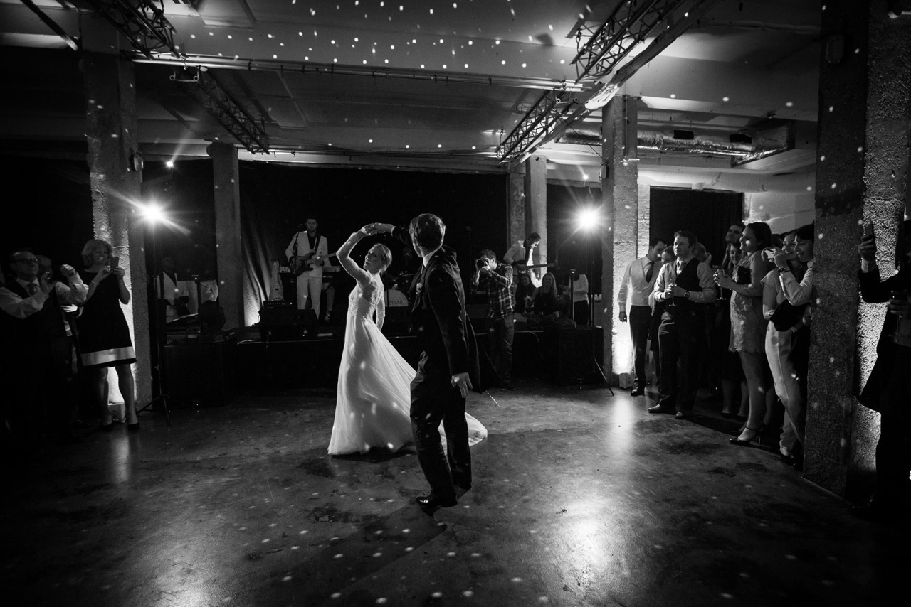 Wapping studio and warehouse wedding venue