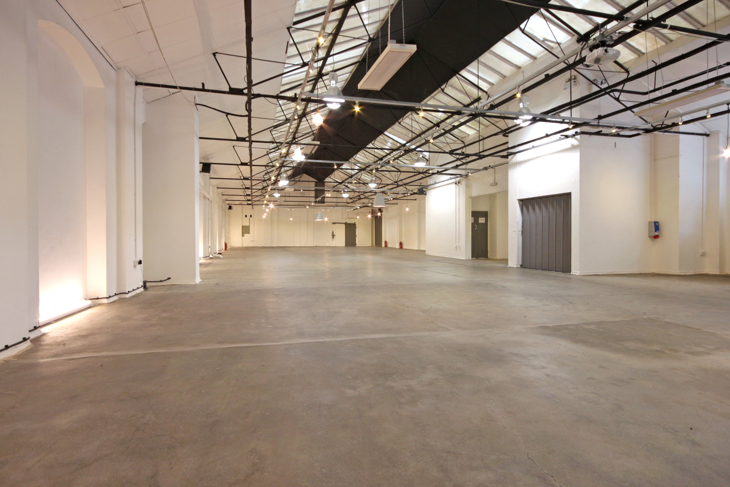 Large warehouse wedding venue