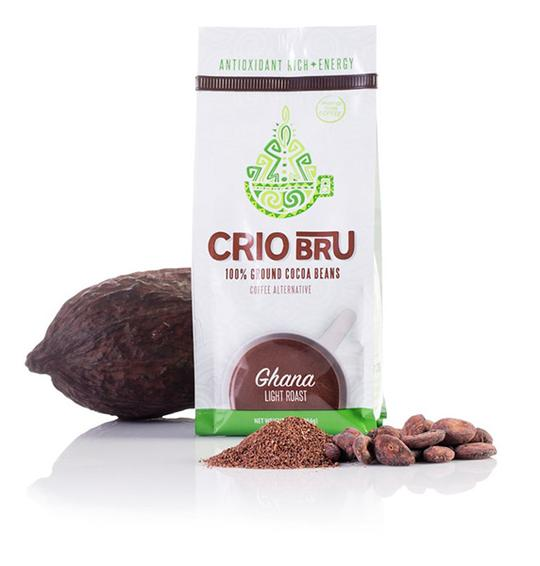 Crio Bru - If you're used to brewing a traditional cup of morning coffee, this may be the stuff for you! 100% ground cocoa beans in a variety of roasts and flavors, this is a great caffeine-free alternative, without having to change your habits or lifestyle, at all! 2 thumbs up!
