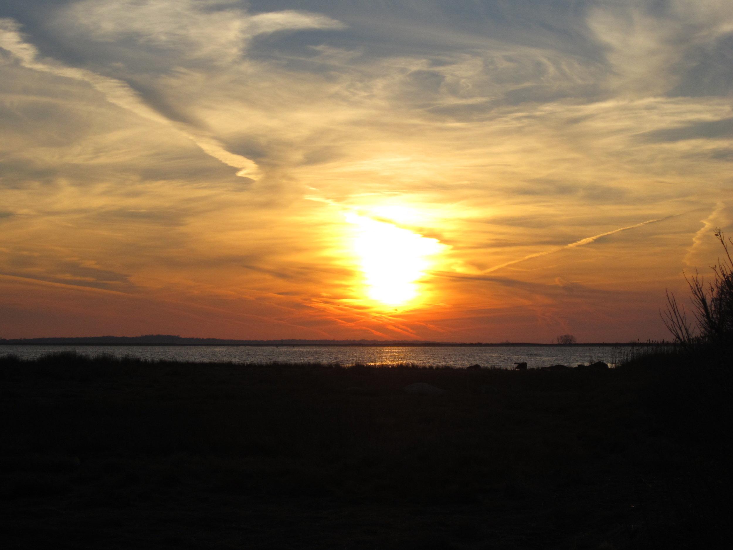 barn island sunset photo: S. Simm