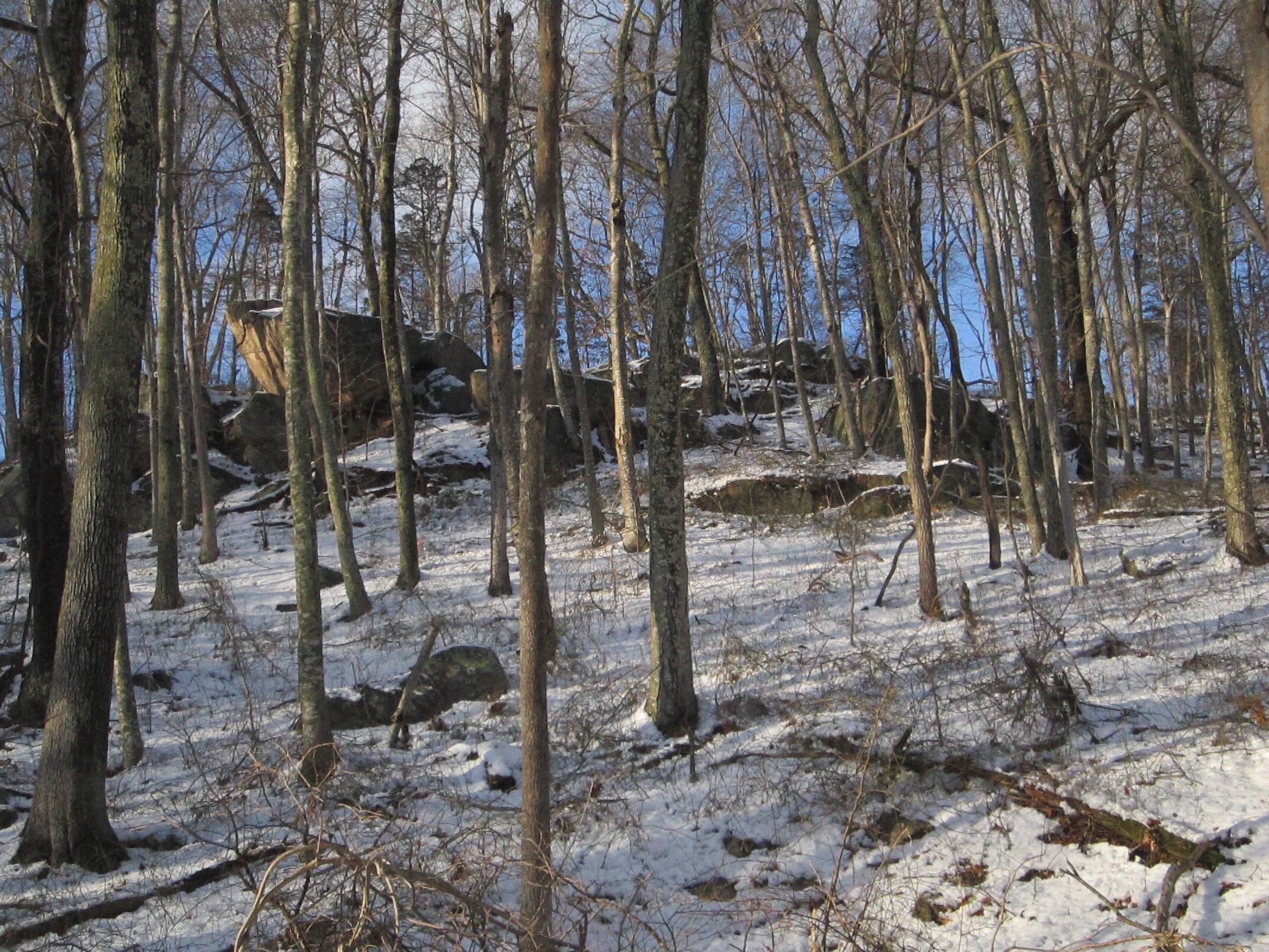 Old Mystic Ridge - Glacial Erratic, Photo may be too dark - For Website.JPG