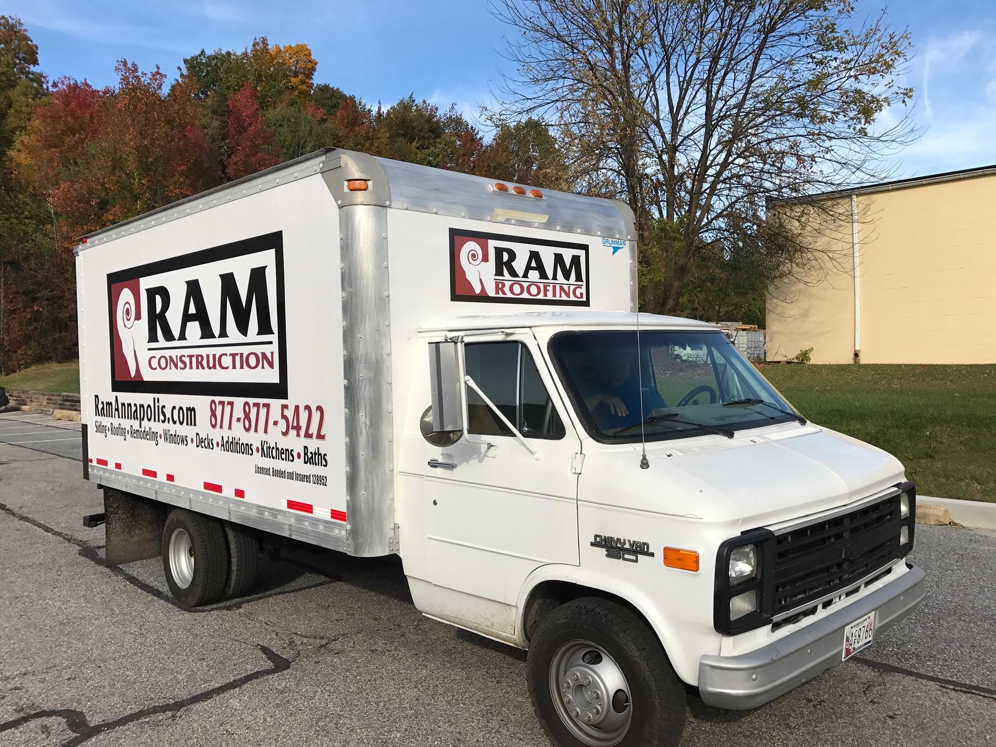 box truck partial wrap & lettering