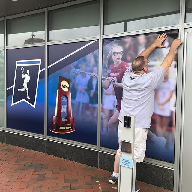 #tbt A few items to browse through from that time we did the signage for #NCAAWLAX  #athleticsignage #directionalsignage  #nameplates  #meshbanners  #coroplastsigns