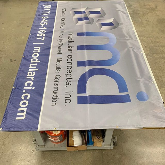 If you have temporary fencing at your construction site, spruce it up and get your message front and center! #meshbanner #branding #banner