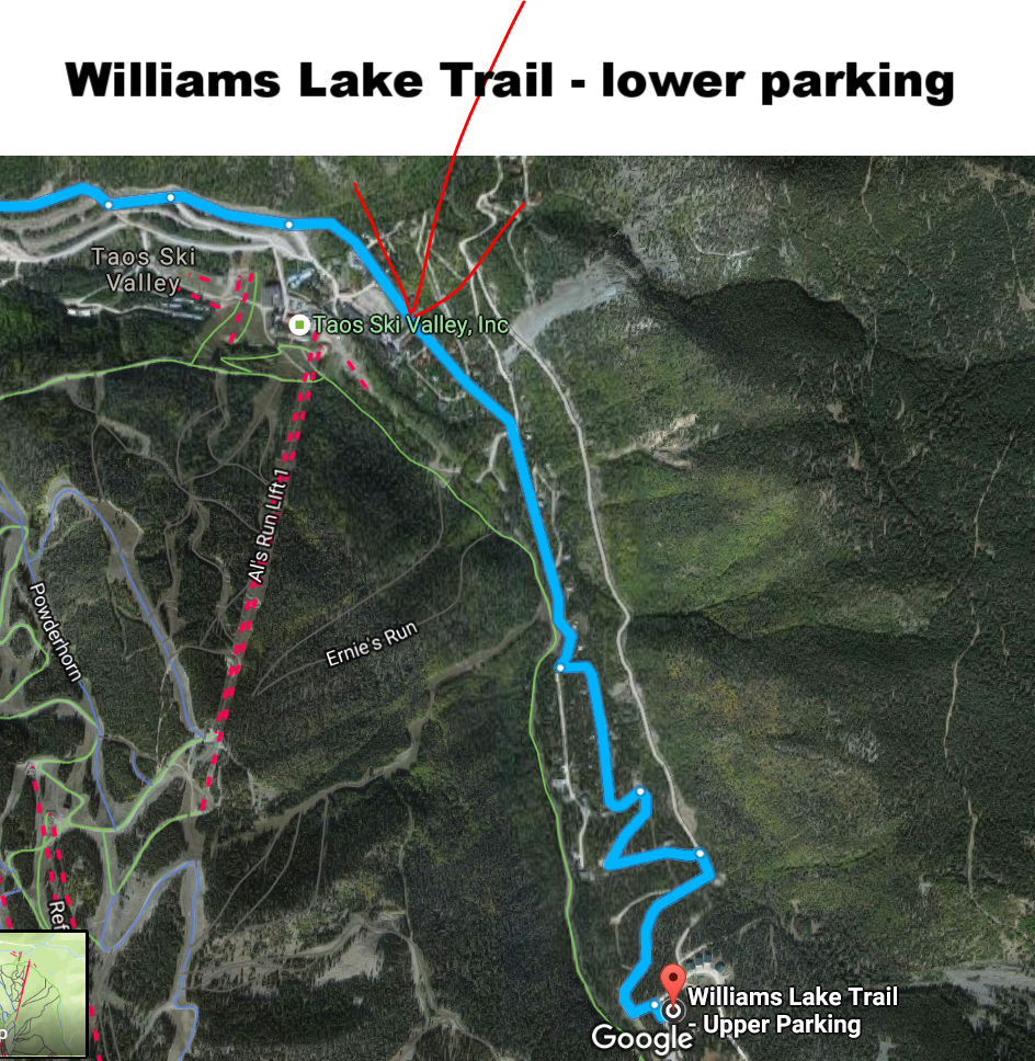 Williams lake Trail -Upper Parking.PNG