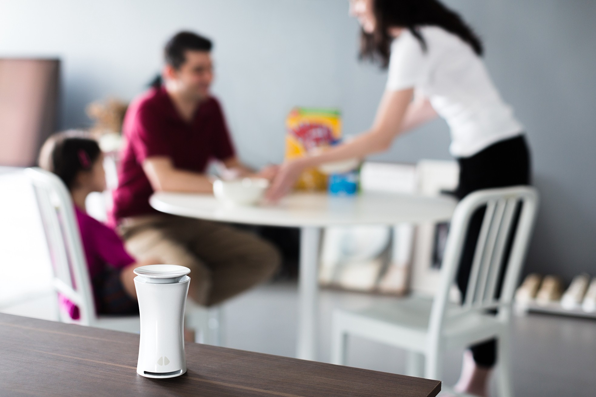 uHoo quietly monitors air quality within a home. | Source: Uhoo air site