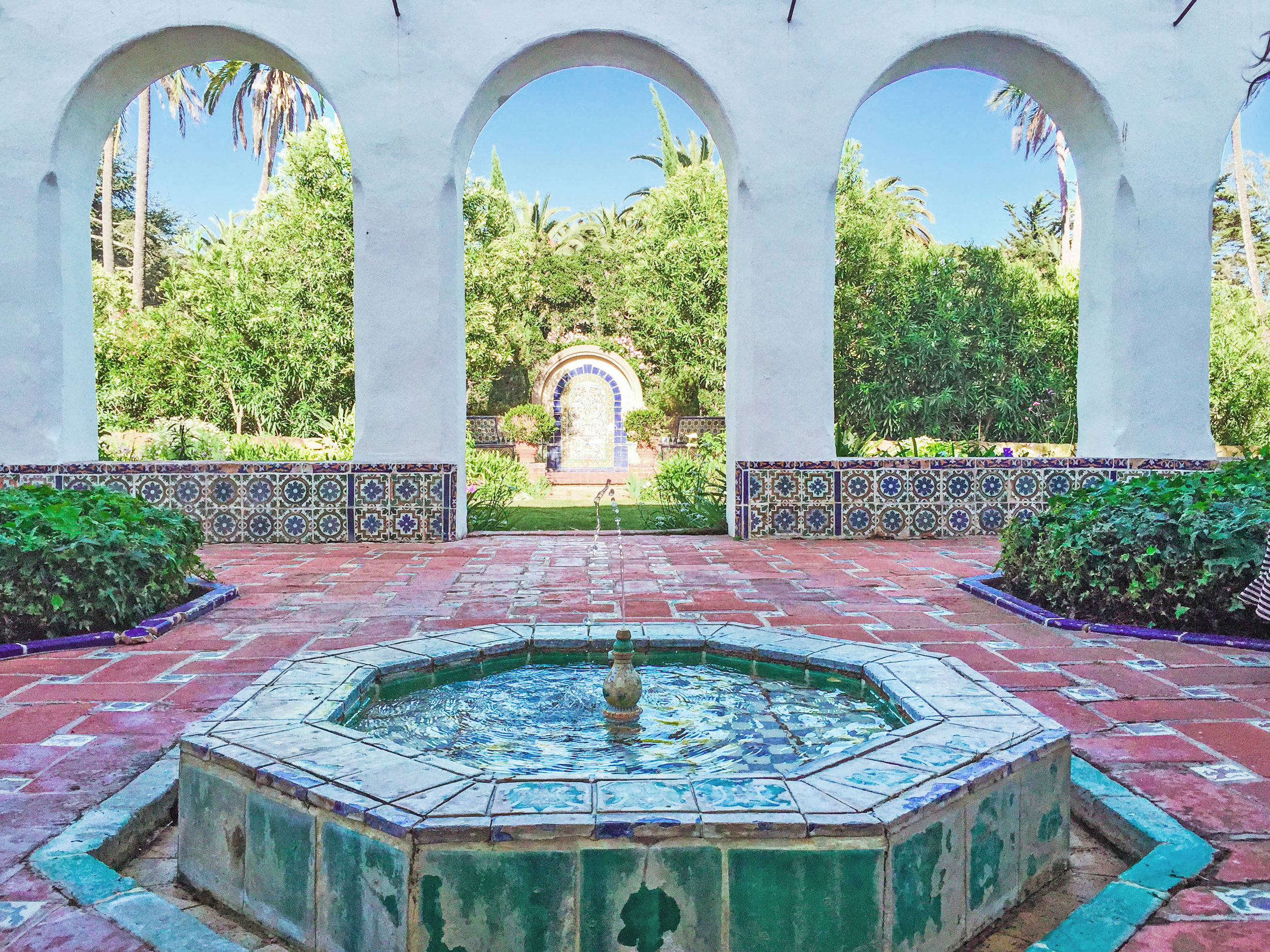 The fountains at Casa del Herrero are undergoing restoration to it's former glory.