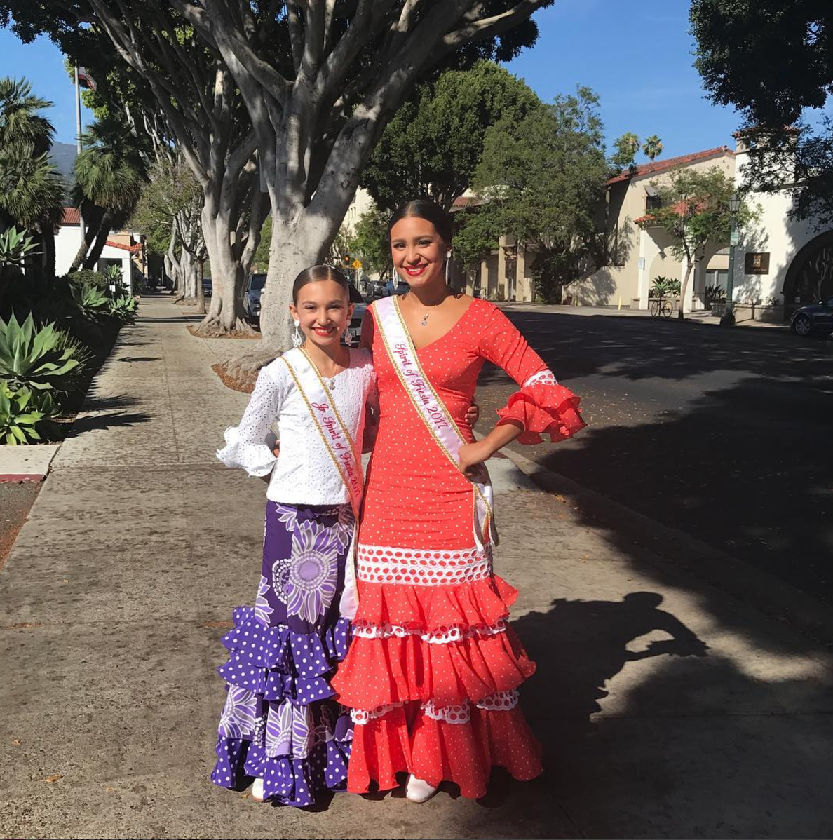 2017 Spirit of Fiesta, Norma Escárcega (right), and Junior Spirit of Fiesta, Eve Flores |  Image:  Montecito Lifestyle