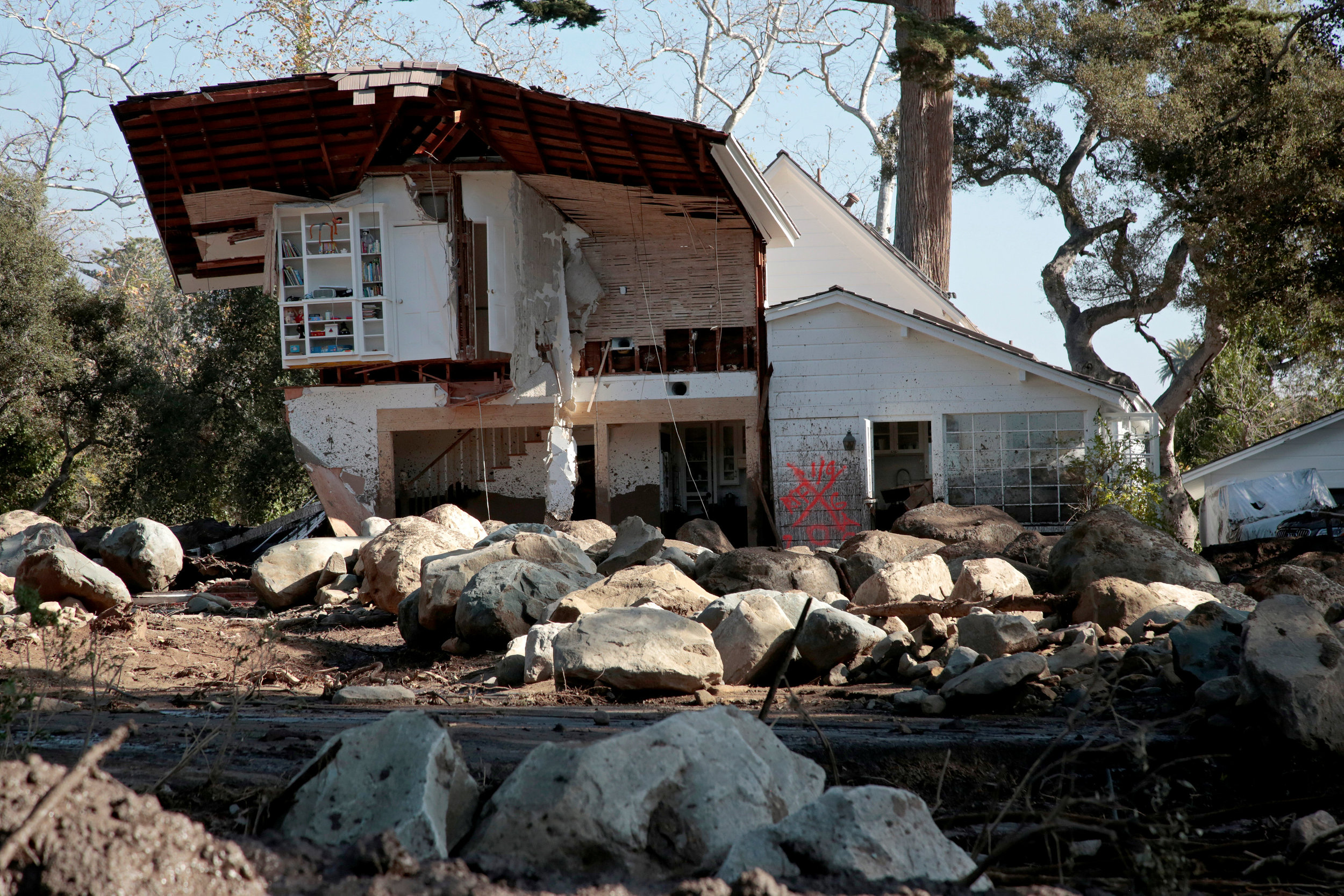 A Montecito home post mudslide |Image: Santa Barbara Independent