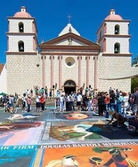 I Madonnari Italian Street Painting Festival - Join us at the Santa Barbara Mission, May 25-27 from 10am to 6pm daily for the festival.Madonnari, or street painters, transform the Mission plaza using pastels on pavement to create 150 vibrant and colorful, large scale images. The festival benefits the Children's Creative Project, a nonprofit arts education program of the Santa Barbara County Education Office. Learn more about the festival here.