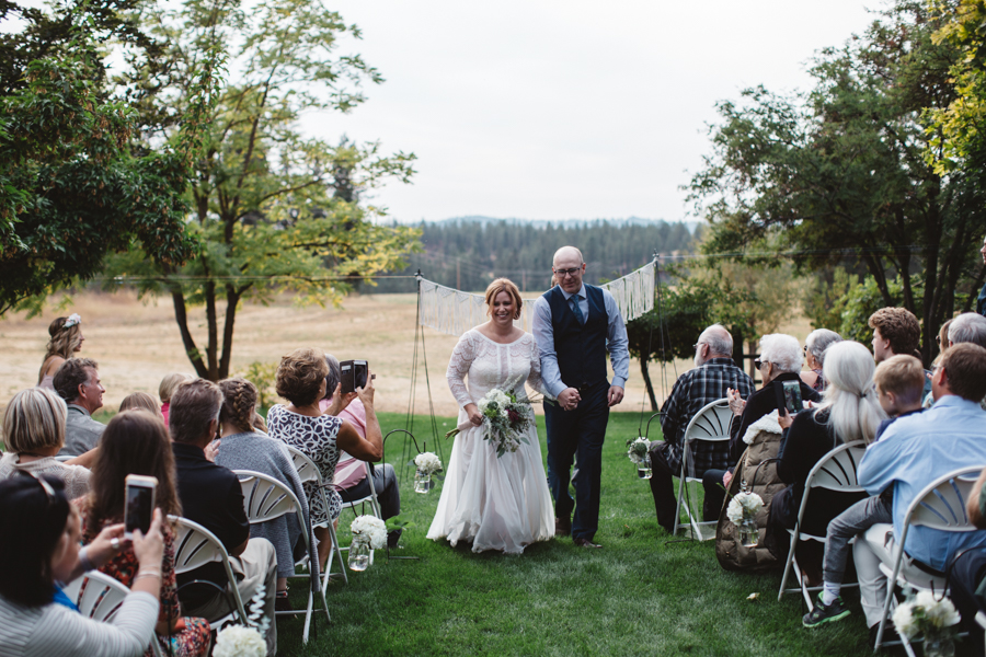 Katie + Trevor Spokane Barn Wedding