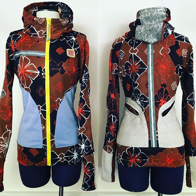 """ORIGINAL RUNNING JACKET No. 757. Sometimes I can't hold back the joy of design for months on end without sharing. My Fall line of running jackets are in production, and it feels like a slow process because it is. All the Vander Jackets are made by hand locally....individually....🐌 🐌🐌🐌... The new running jacket originals go online in September. When I can't keep my designs a secret any longer I make a jacket and post it on the website just to keep me from bursting from creative impatience. - - This XS jacket is now at vanderjacket 🐌com on the """"XS"""" page. Specs include two deep front pockets, two back pockets, thumb-holes, watch hole, full zip, fitted hood, front and back reflective, warm and breathe-able locally sourced excess polyester fabric. $195. If you love it, buy it because it'll last you over the miles of wear and tear! #sustainability - - - - - - - - - - - - - - - - - #vanderjacket #geargarment #runningisbeautiful #outerwear #sustainablymade #sustainableclothing #outdoorstyle #outdoordesign #findyourtrail #trailrunner #urbanrunner #urbanrunner #runcolorado #coloradorunner #denverstyle #denverstylemagazine #streetstyleblogger #runlifestyle #runnerstyle #trailrun #runlikeagirl #trilikeagirl #cyclinggirl #cyclinglifestyle #coloradolove #coloradolovesyoga #colorado_creative #slowfashion"""