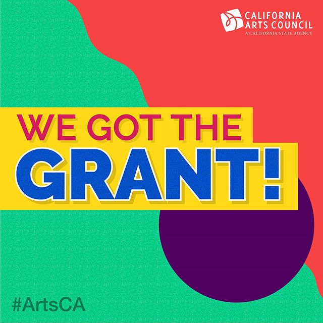 We got the grant! @calartscouncil is supporting our innovative work in youth arts as part of its record-setting investment in CA Arts and Culture. #ArtsCA #gotthegrant