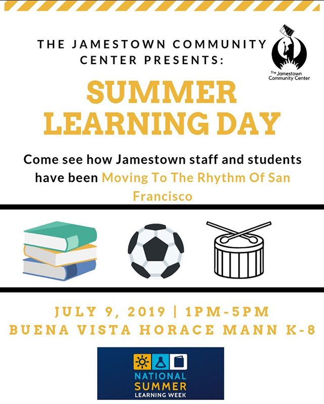 Jamestown is celebrating National Summer Learning Week at each of our sites! Starting tomorrow at BVHM, you can see how our staff and students have been MOVING TO THE RHYTM OF SAN FRANCISCO. Can't wait to see what our talented youth have in store. #summerlearningweek #summerlearningday #phoenixbeacons #missiondistrict #sanfrancisco #latinoeducation #communitydevelopment #california #bayarea