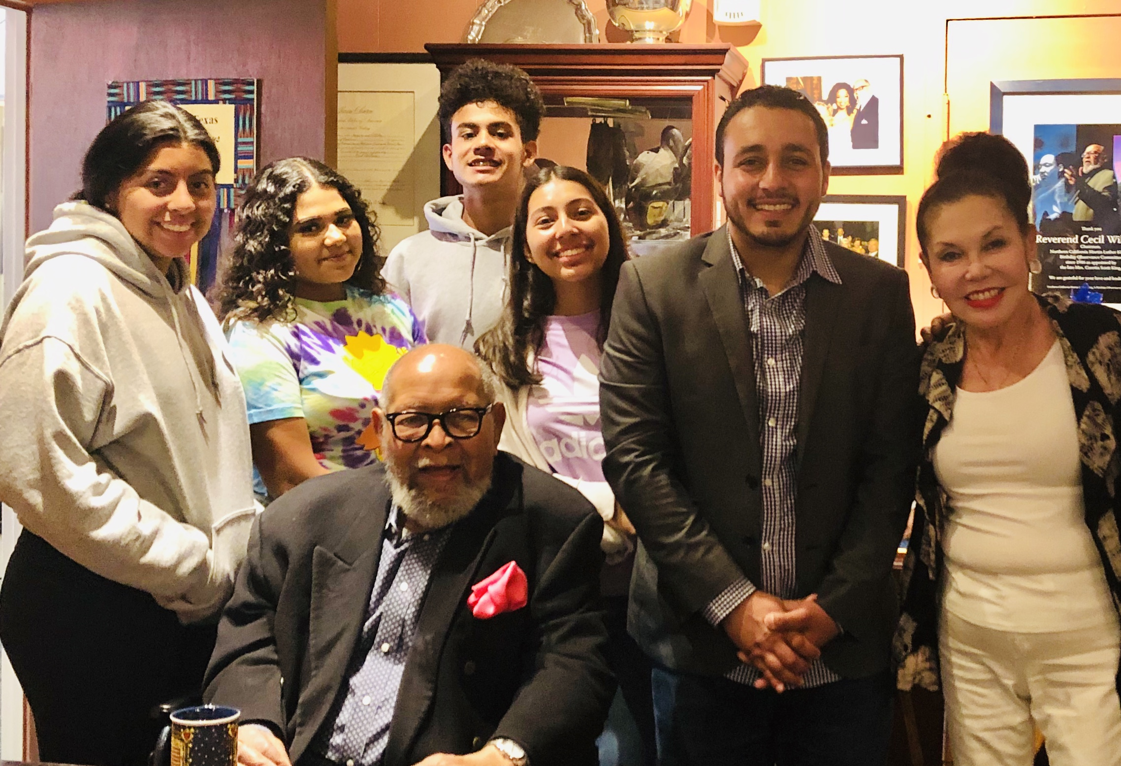 After volunteering, Youth In Charge members were honored to meet the GLIDE Co-Founders, Reverend Cecil Williams and Janice Mirikitani.