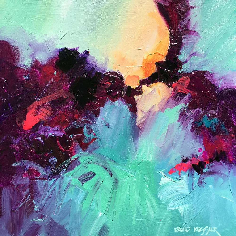 """Saltwater 14"" 24x24 Acrylic on Canvas"