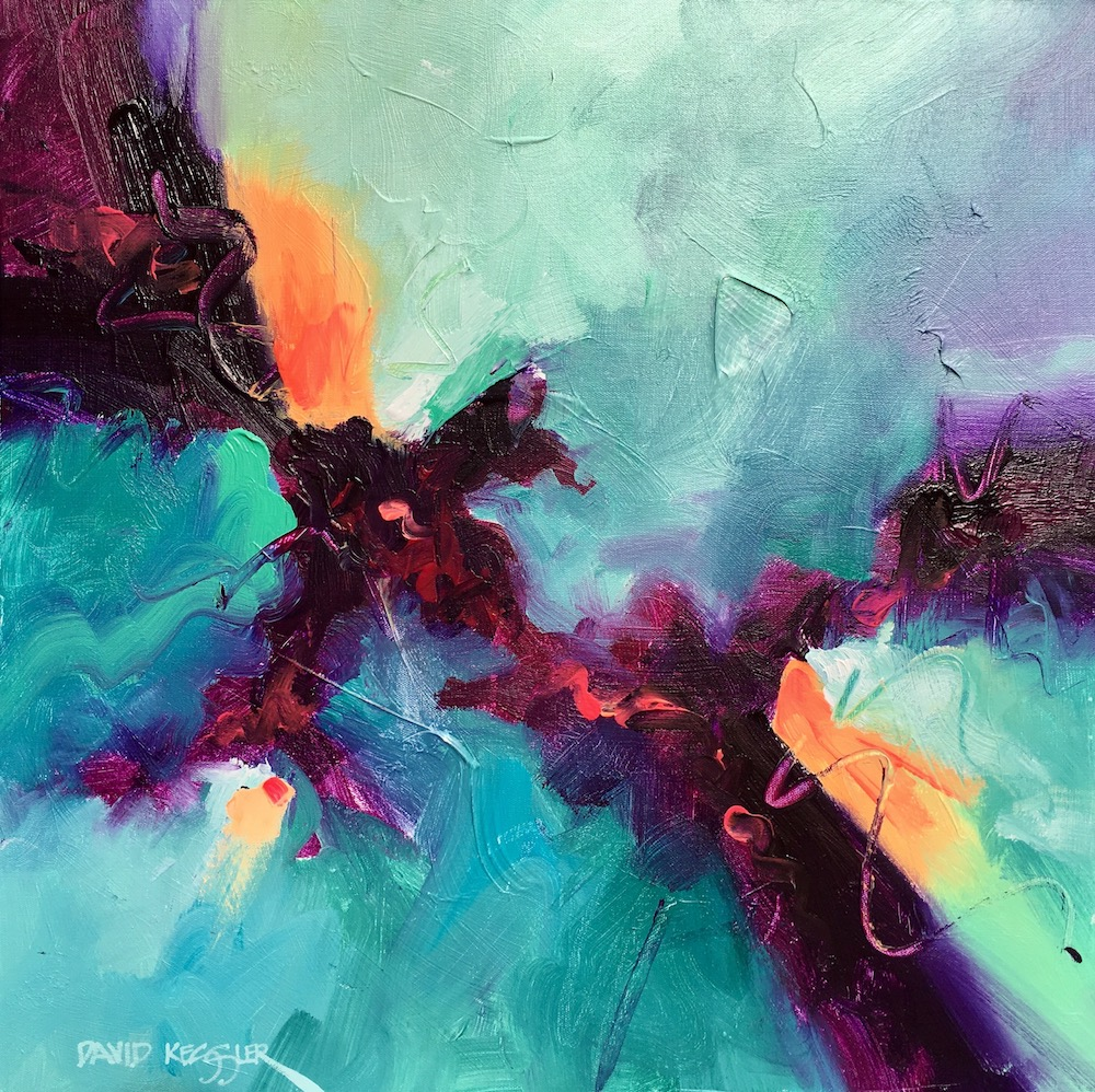 """Saltwater 19"" 30x30 Acrylic on Canvas"