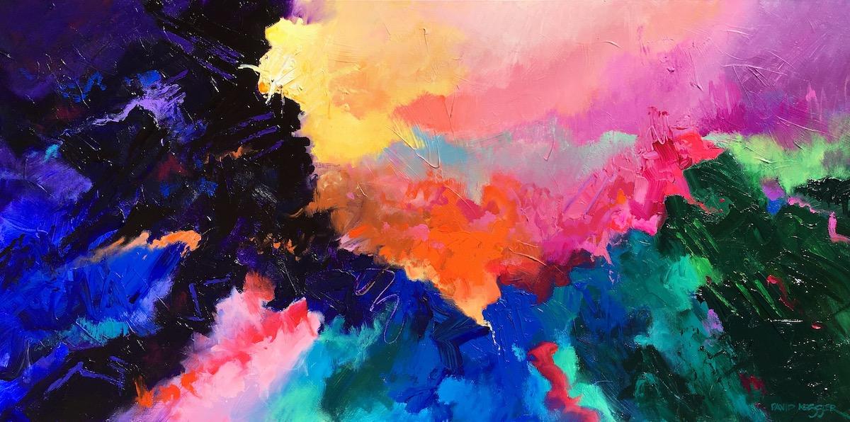 """Morning 3"" 36x72 Acrylic on Canvas"
