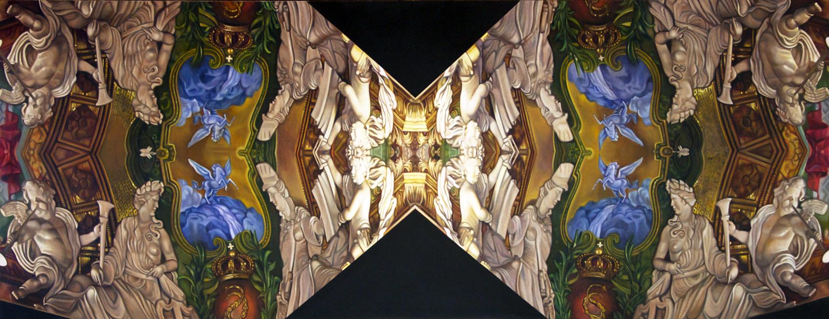 """Charlottenberg    Oil on linen over panel  32 1/2"""" x 84""""  2014-2015"""