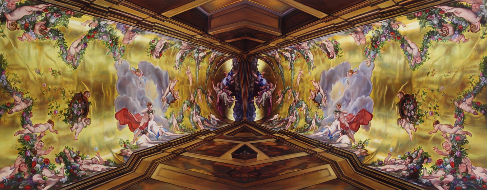 "Holy Bravado    Oil on linen over panel  36"" x 92""  2013"