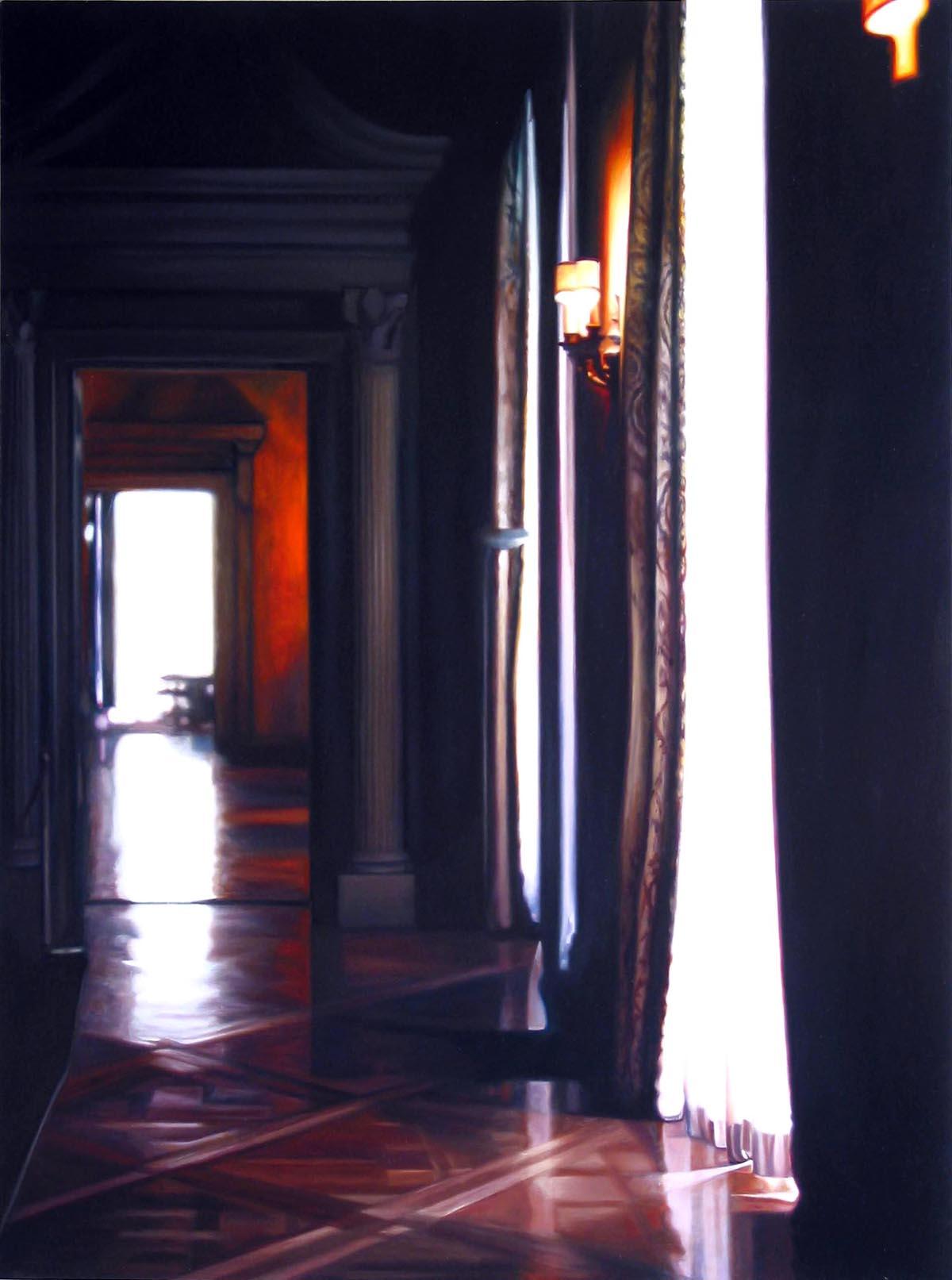 """Hallway 2    Oil on panel  44"""" x 32""""  2002"""