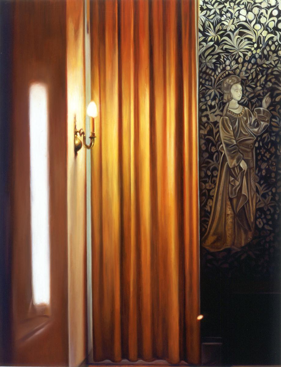 "German Hotel Lobby    Oil on panel  20"" x 16""  2001"