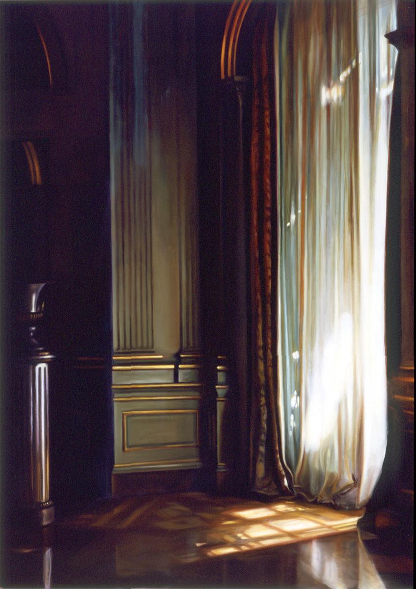 "Filolli Corner    Oil on panel  44"" x 30""  2002"