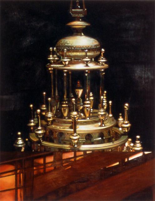 "Science & Industry II    Oil on Panel  14"" x 11""  1994"