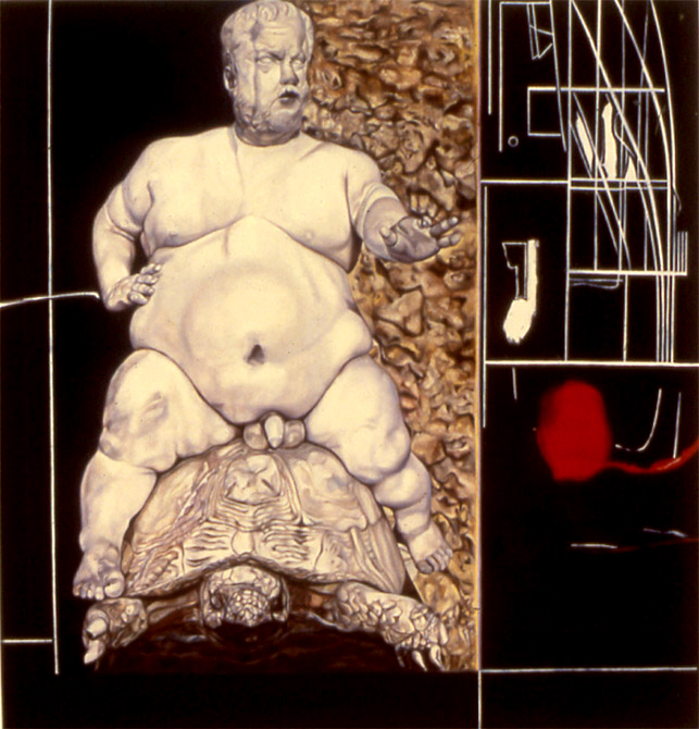 "Royal Dwarf    Oil on panel  14"" x 11""  1990"