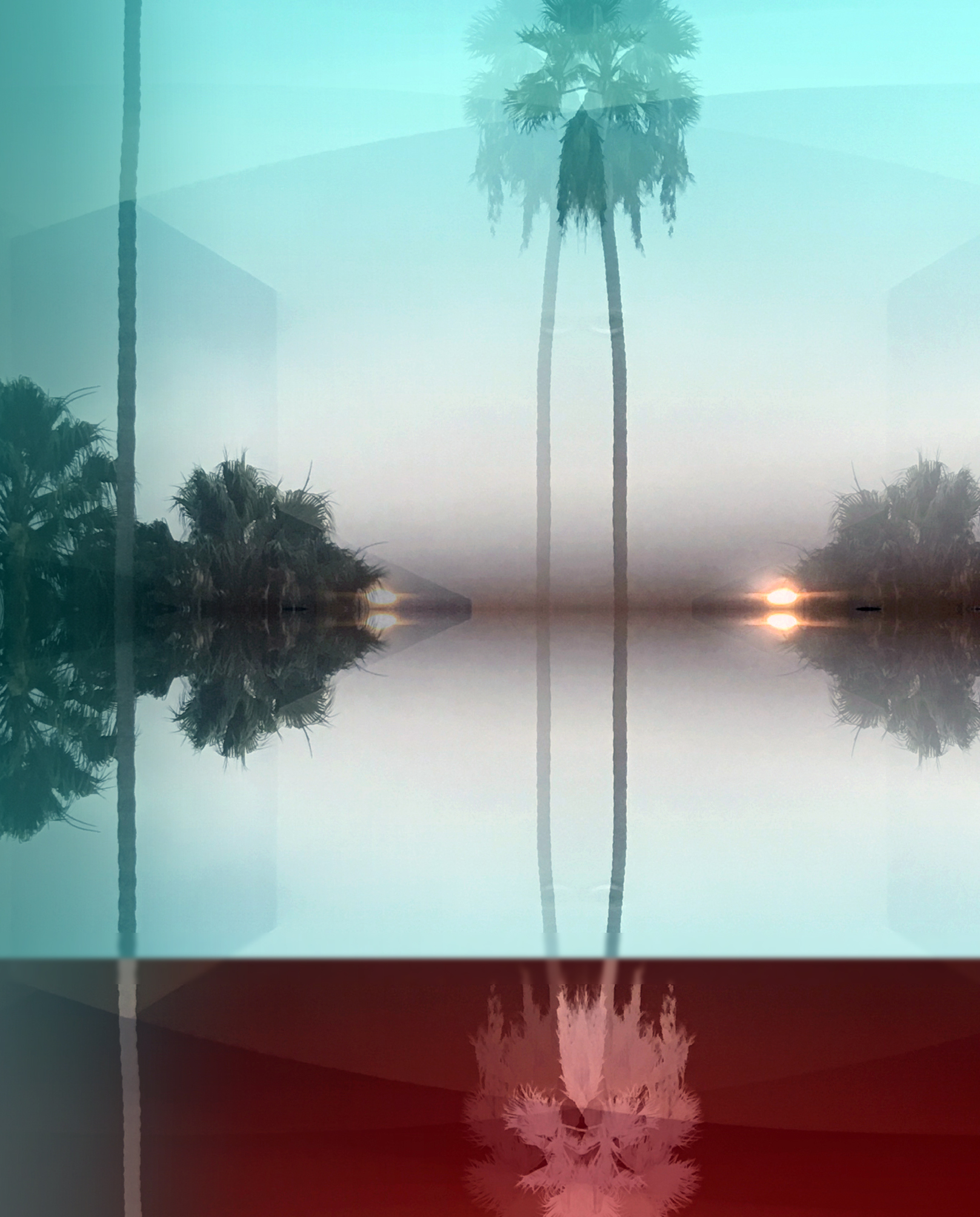 30 x 24 palmtree upside down mirrored Turqoise bottom red inverted.jpg