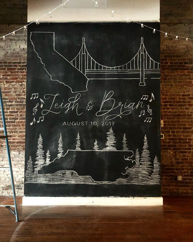 Some fun #signage for Brian and Leigh's wedding @thestockroomat230 today!!swipe to see the #woodenseatingchart . . . #raleigh #raleighbride #raleighnc #seatingchart #weddingsignage #realchalk #chalkart #chalkartist #chalkartraleigh #raleighchalkartist #downtownraleigh #weddingsigns #realwedding #southernwedding.