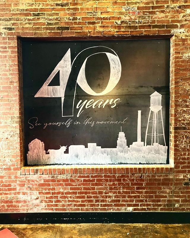 Such an honor to be asked to do the chalkboard for @equalitync's 40th anniversary gala tonight! . . . . #chalkartist #chalkboard #durhamnc #raleighnc #downtowndurham #durhamevent #graphicdesign