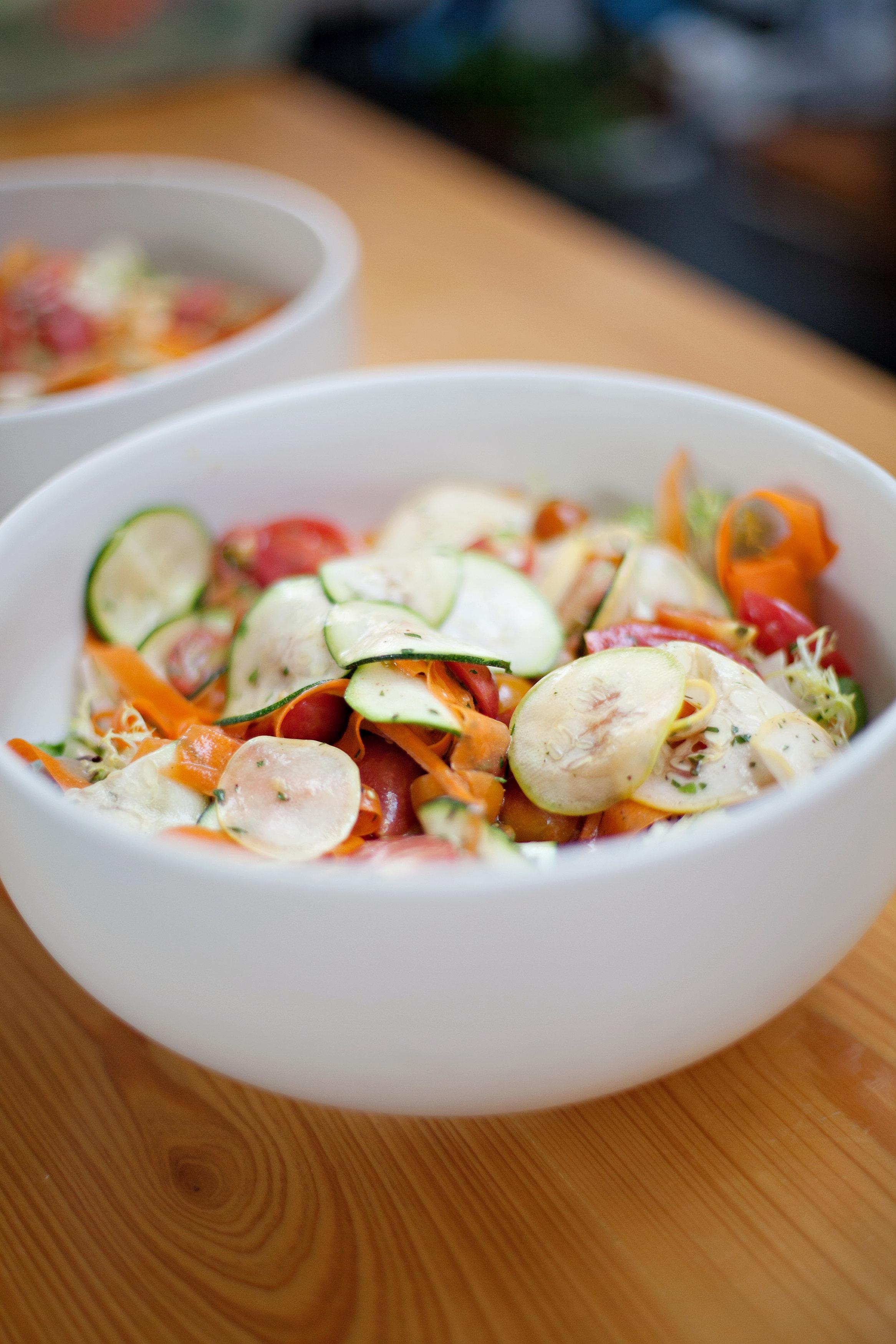 Veggie Marinated Salad | Kitchen SIx Oak Grove Atlanta Ga Restaurant Brunch