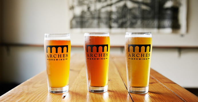 Kitchen Six Beer Dinner with Arches Brewing