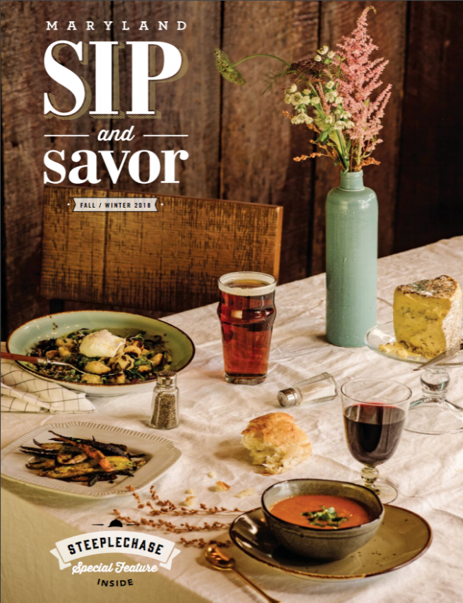 MARYLAND SIP & SAVOR | COVER | FALL/WINTER 18'