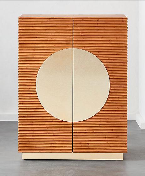 $999 - Emilio Rattan Entryway Cabinet, CB2