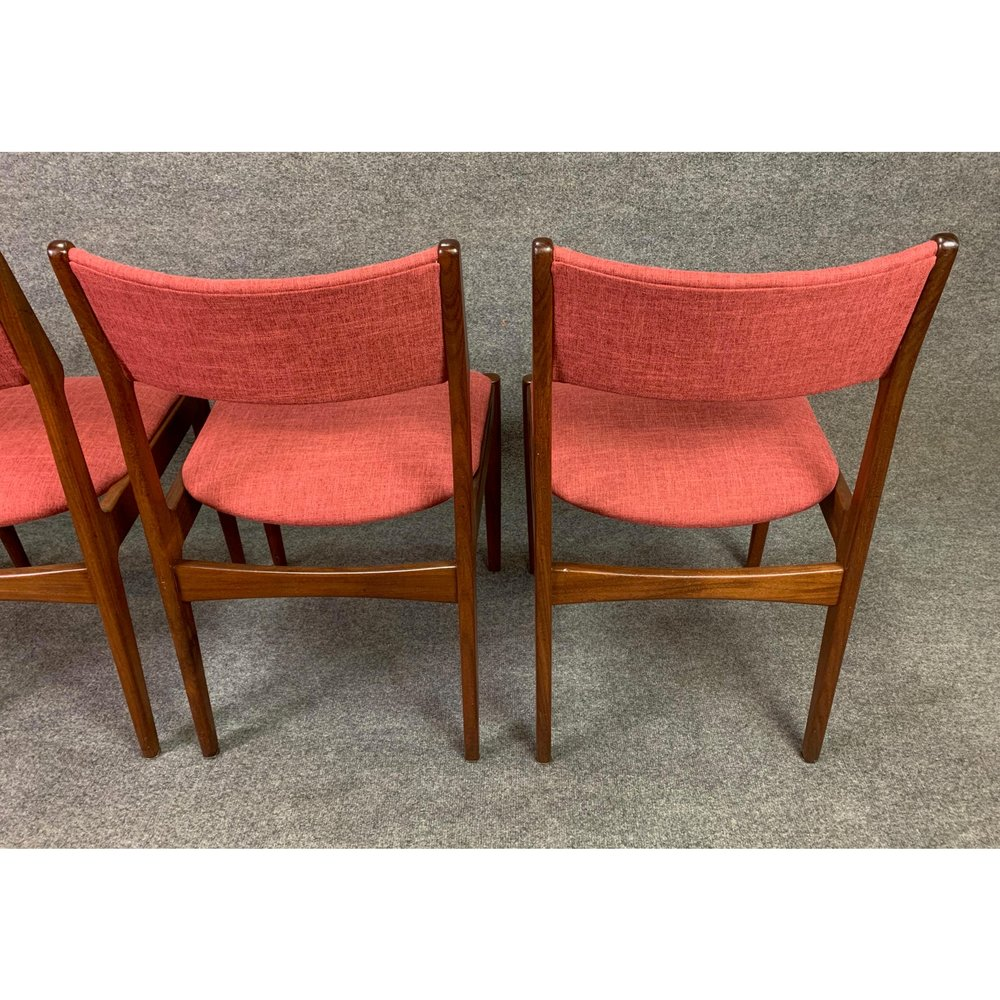 Vintage Danish Mid Century Modern Teak Dining Chairs Set Of 4 Aymerick