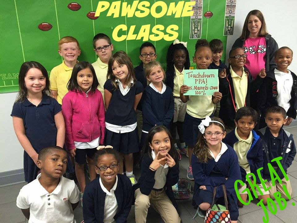 MRS MASON'S CLASS WAS THE VERY FIRST TO GET 100% IN PPA MEMBERSHIP!!!! WAY TO GO!!! YOU ALL ROCK!!  And a BIG CONGRATULATIONS to Mrs Mason! She gave birth to a brand new baby boy on August 31st!