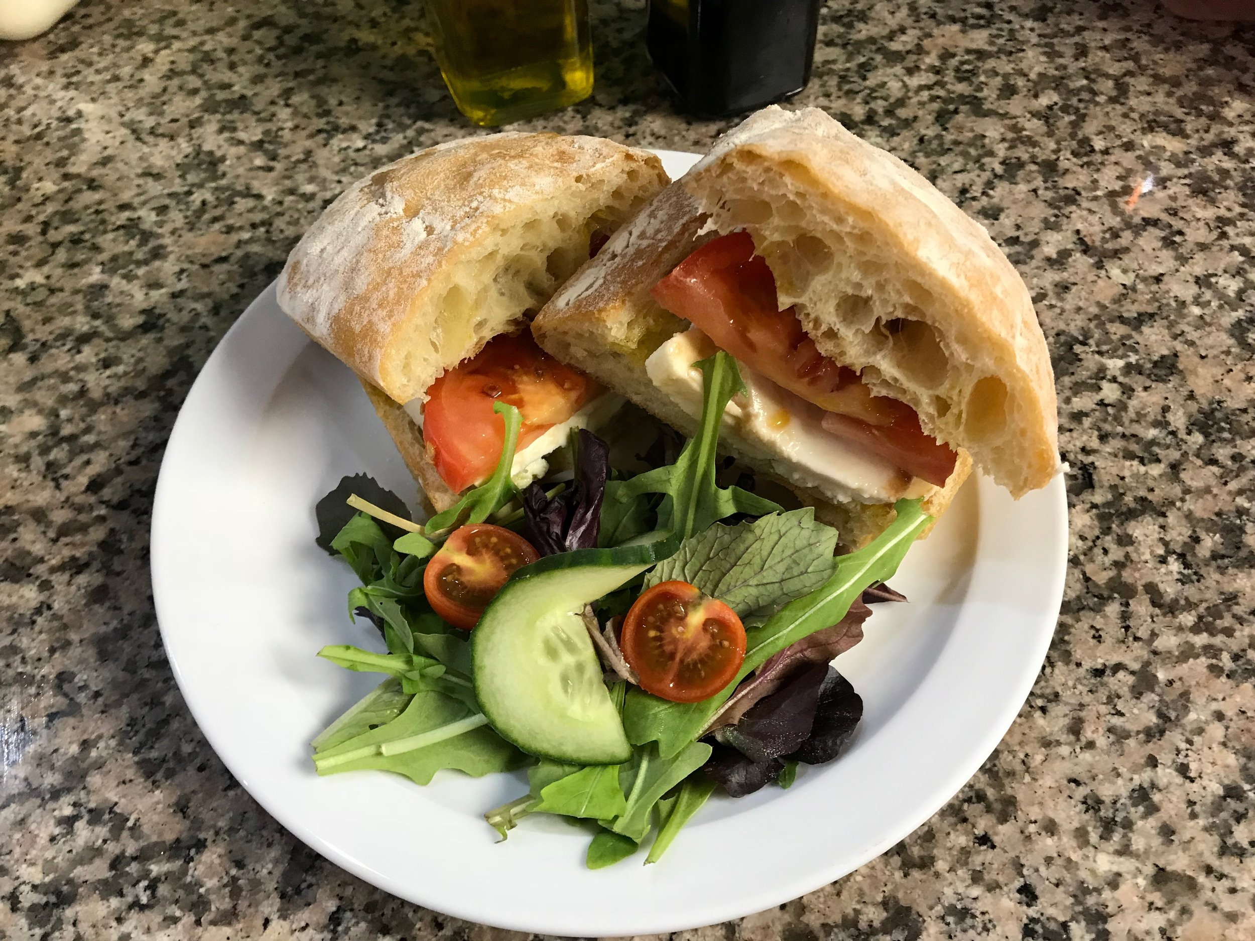 Our Vegan Caprese Sandwich uses purely organic ingredients.