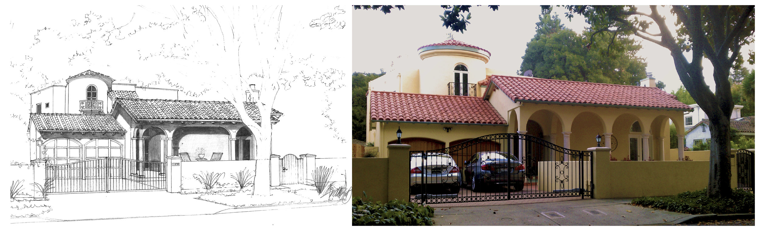 We can provide hand-sketching or simple line drawings to visualize a design concept.