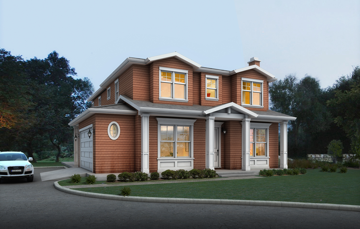 A 3D rendering of this home was created to help neighbors and the city council visualize the design.