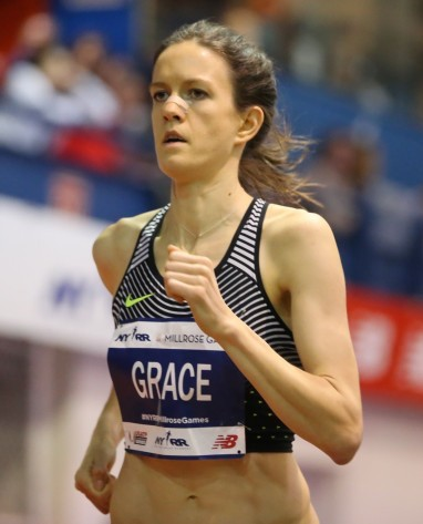 In 2017, Kate finished runner-up in the Wanamaker Mile at the Millrose Games by running a personal best of 4:22.93.