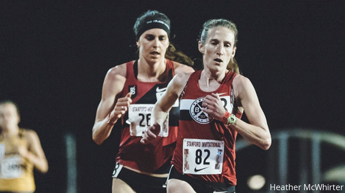 Carrie competing in the 2018 Payton Jordan 10,000m where she ran under 32 minutes for the first time.