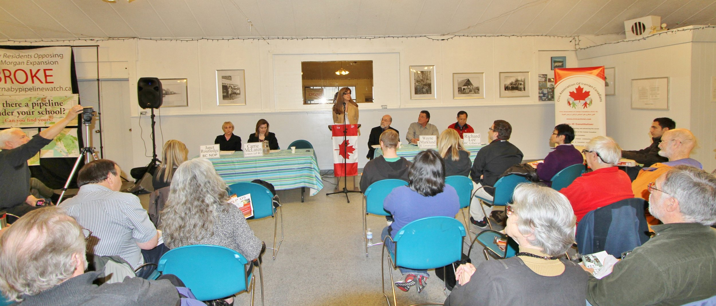 Burnaby Provincial Election, All Candidates Meeting