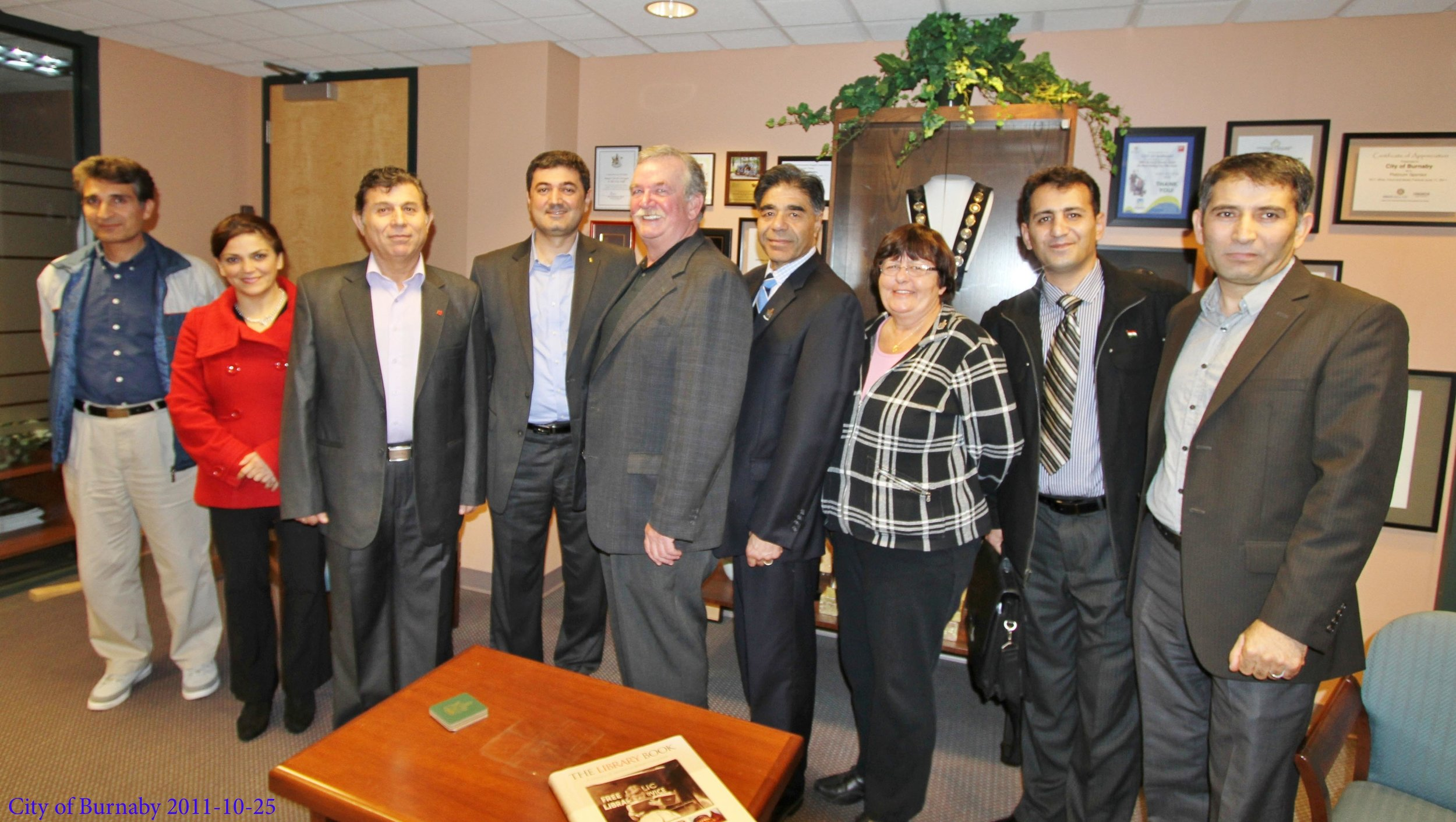 Meeting with mayor of Burnaby